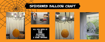 spiderweb balloon craft keepingupwiththecraftmoms