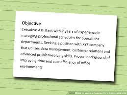 Resume Background Image How To Write A Resume For A Secretarial Job 11 Steps