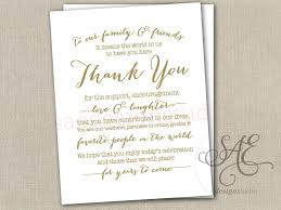 thank you card size wedding day reception thank you menu size table cards diy instant