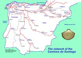 camino compostela map of the caminos to santiago de compostela places to visit