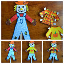 east coast mommy ecm kids u0027 craft club 7 scarecrow paper doll