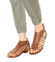 polo ralph lauren jadine leather gladiator sandals cuoio brown