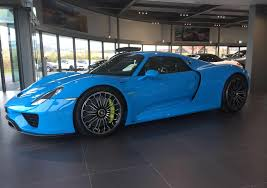 porsche 918 front porsche 918 spyder in blue rocket color front photo porsche