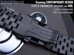 solid stainless steel bracelet images Fs 22mm 24mm pvd black oyster super engineer solid stainless jpg