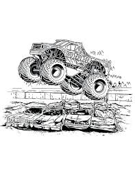 monster truck coloring pages sting awesome projects jam avenger