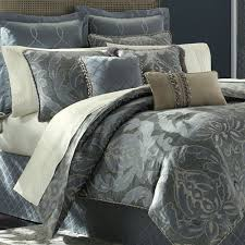 Blue Bed Set Chantal Damask Comforter Bedding By Croscill
