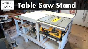 Site Table by How I Built My Table Saw Stand U0026 Chisel Sharpening Shop Update