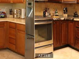 resurfaced kitchen cabinets before and after home decorating