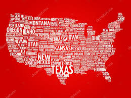 Hollywood Usa Map by Usa Map Word Cloud U2014 Stock Vector Dizanna 101124756