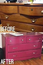 Painted Bedroom Furniture Before And After by Diy Dresser U0026 Nightstand Makeover Sangria Colored Paint Bexbernard