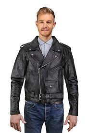 Cowhide Leather Vest Amazon Com Mens Leather Motorcycle Jacket Cowhide Leather Biker