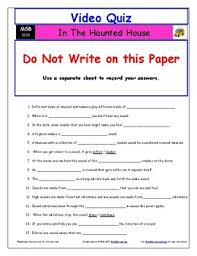 worksheet quiz ans magic bus haunted house