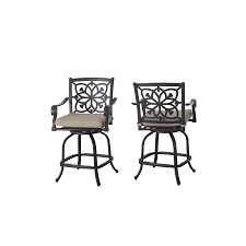 Lowes Allen And Roth Patio Furniture - shop allen roth ebervale 2 count aged bronze aluminum swivel
