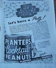 Planters Cocktail Peanuts by Planters Peanut Glasses Cocktail Ebay