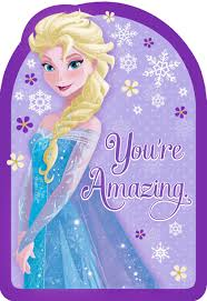 frozen queen elsa you u0027re amazing birthday card greeting cards