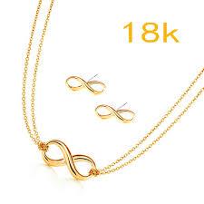 Wedding Gift Necklace Aliexpress Com Buy Infinity Jewelry Set Minimalist Dainty