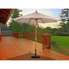 Orange Patio Umbrella by California Umbrella Mare908 9 Wood Pulley Open Marenti Wood Market