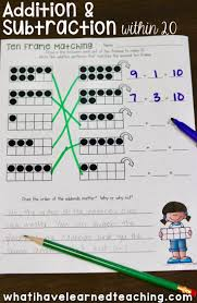 addition and subtraction within 20 make 10 add 10 use 10 to