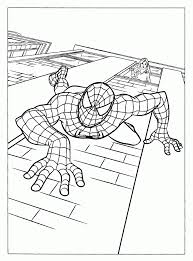 free spiderman coloring pages crawl wall free coloring