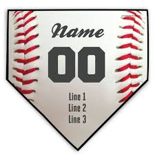 home plate baseball personalized baseball stitches home plate plaque