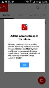 adobe reader android apk acrobat reader for intune apk free productivity app for