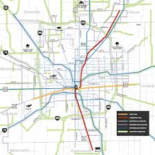 Metro Rail Houston Map by Major Transportation Plan For Indianapolis Could Link Region With
