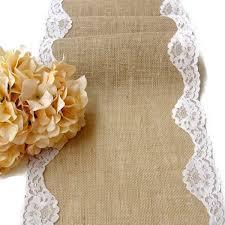 natural burlap table runner natural burlap and lace table runner wedding table runner rustic