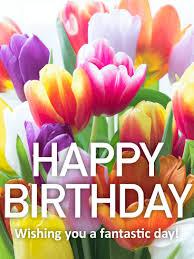 flowers birthday pretty tulip happy birthday card birthday greeting cards by davia