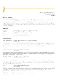 Resume Introductory Statement Examples by Personal Statement Resume Free Resume Example And Writing Download