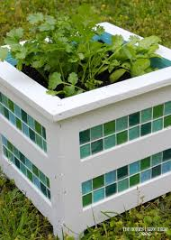 herb planter boxes tiled planter box the homes i have made