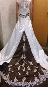 brown wedding dresses colorful bridal gowns color accents bridal gown