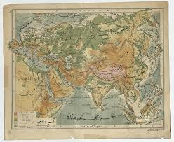 Southwest Asia Physical Map by Afternoon Map Three Maps Of Asia