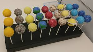 planetary cake pops for a space themed baby shower imgur