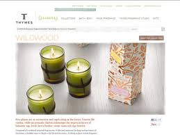thymes candles thymes wildwood collection home fragrances candles air