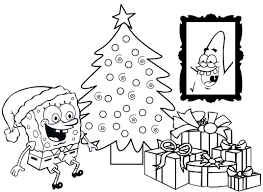 spongebob for christmas free coloring pages on art coloring pages