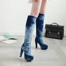 s high boots uk s high heel zip platform knee high boots shoes uk plus