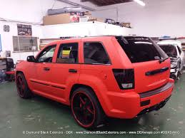 jeep matte grey jeep grand cherokee srt8 wrapped in matte red 3m by dbx diamond