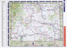 Wyoming travels images Map of the state of wyoming clear detailed road map of the state jpg