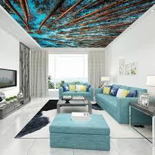 birch tree decor sky ceiling decor wall papers 3d living room bedroom murals birch