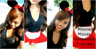 minnie mouse halloween tutorial eyes hair costume youtube