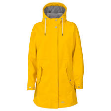 trespass viv womens waterproof longer length jacket hooded