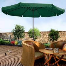 10 Foot Patio Umbrella 10ft Aluminum Outdoor Patio Umbrella W Valance Crank Tilt Sunshade