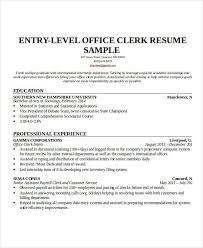 Office Clerical Resume Samples by 26 Free Work Resume Templates Free Word Pdf Documents Download