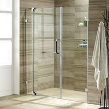 vigo pirouette 42 to 48 in frameless shower door with 375 in