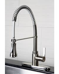 spiral kitchen faucet spectacular deal on kingston brass continental modern spiral satin
