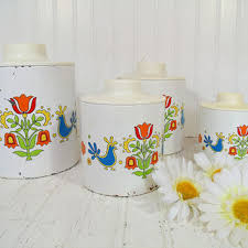 vintage metal kitchen canisters shop metal kitchen canisters on wanelo