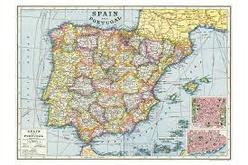 maps of spain map of spain wrapping paper cyclemiles