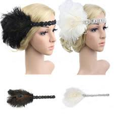 1920s headband flapper feather headband clothing shoes accessories ebay