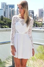 wedding party long sleeve lace skater dress oasap com