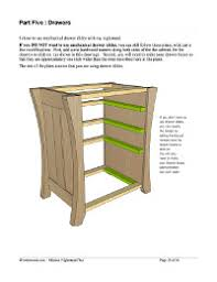 mission nightstand and dresser plans